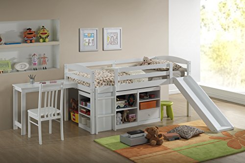 Broyhill Kids Destin Junior Loft Bed Collection with Slide, White