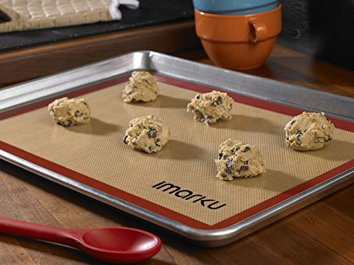 iMarku Silicone Baking Mat Set of 2 ,Non-Stick,Heat Resistant, Durable Silicon Liner for Bake Pans by iMarku (Image #6)'