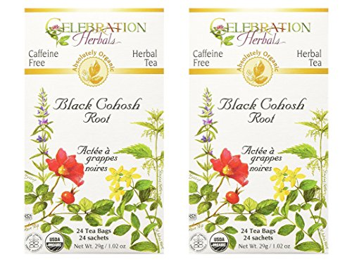 Black Cohosh Root Tea Bag - Celebration Herbals Black Cohosh Root Tea, Organic, 24 Teabag (2 pack)