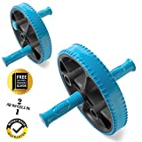Ab Wheel with Adjustable Handles – Exercise More Muscle Groups – Contains Ab Wheel Training Guide – For Beginner or Advanced Exerciser Review