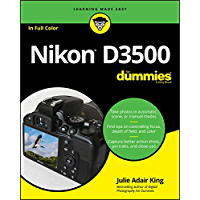 Nikon D3500 For Dummies book cover