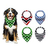 Puppollar Pet Dog Puppy Bandana Bibs Double Cotton Triangle Scarfs Head Scarfs Accessories Pet Pack of 4