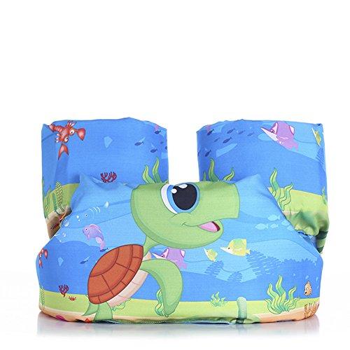 ZeHui Puddle Jumper Basic Life Jacket Baby Life Vest Jackets Kids Swim Trainer Buoyancy Swimsuit Swimming Pool Accessories turtle free size