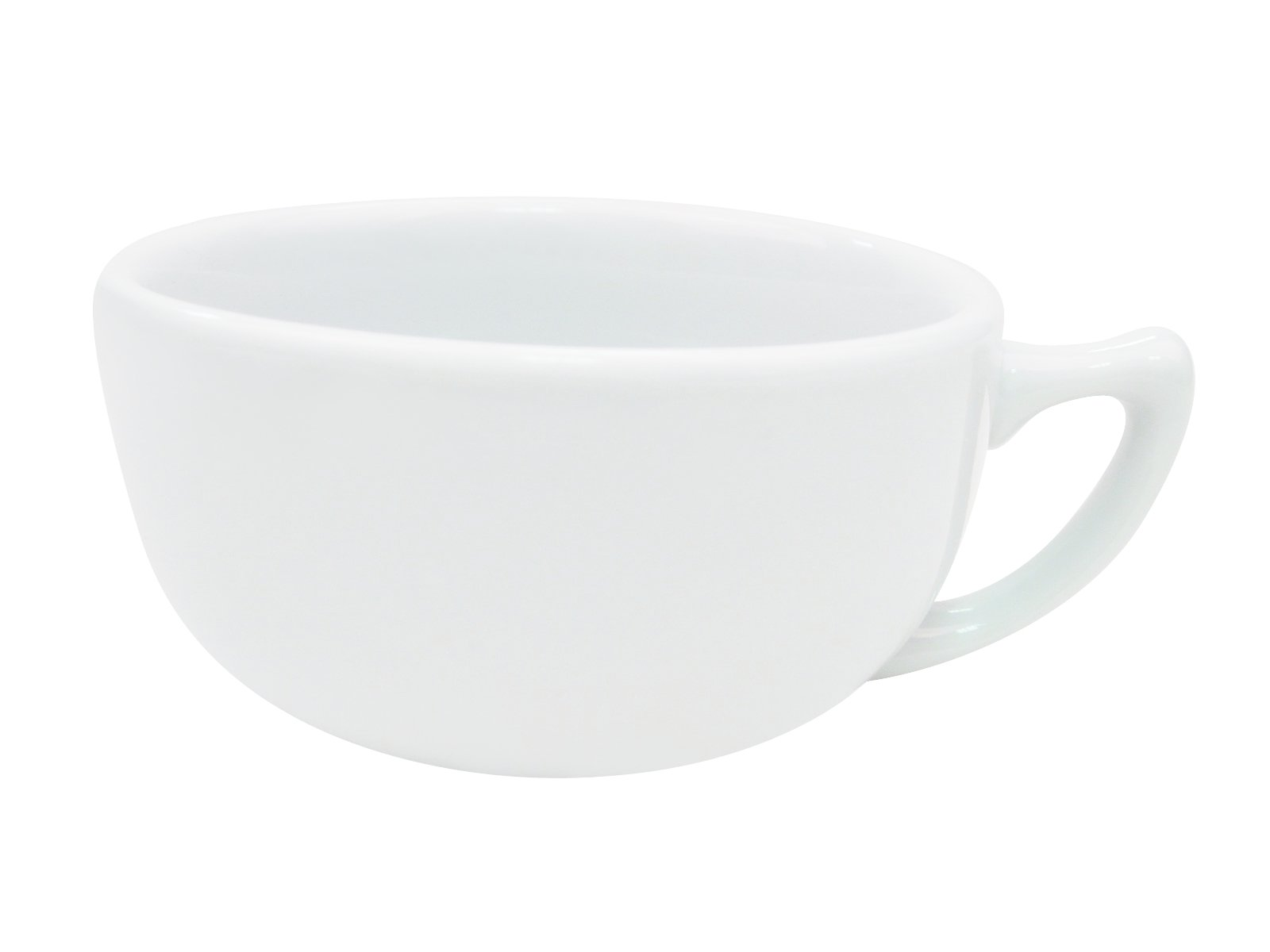 CAC China RCN-56 Clinton Rolled Edge 4-3/4-Inch Super White Porcelain Cappuccino Cup, 14-Ounce, Box of 36
