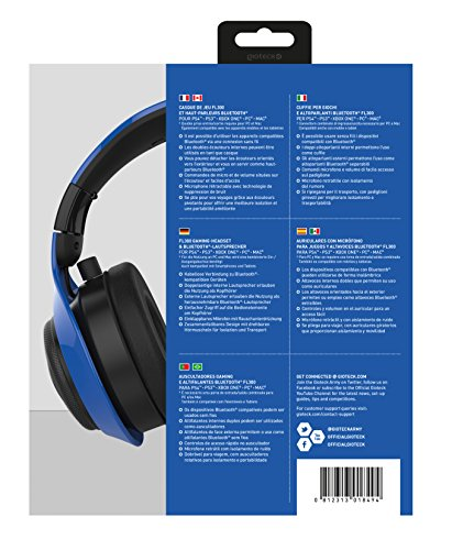 Gioteck FL-300 Wired Stereo Headset with Removable Bluetooth Speakers - Blue by Gioteck (Image #5)