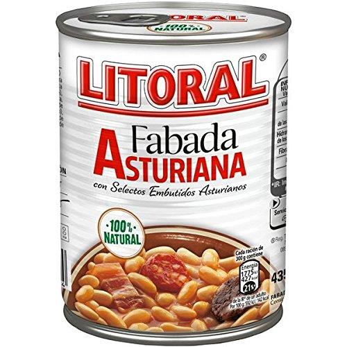 Lote de 6 latas fabada asturiana litoral 435gr