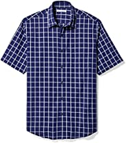 Amazon Essentials Men's Regular-Fit Short-Sleeve Poplin S