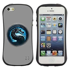 Fuerte Suave TPU GEL Caso Carcasa de Protección Funda para Apple Iphone 5 / 5S / Business Style MK Dragon