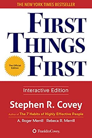 first things first by stephen r covey pdf