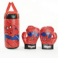 Spiderman Kids Mini Boxing Punching Bag Set with Gloves
