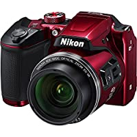 Nikon COOLPIX B500 16MP 40x Optical Zoom Digital Camera Bundle includes Camera, 4 AA Rechargeable Batteries + Charger MH-73, Cables and More from Nikon