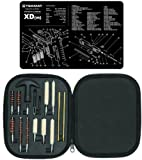 Ultimate Arms Gear Gunsmith & Armorer's Cleaning Work Bench Gun Mat Springfield Armory XD (m) XDm + Professional Tactical Cleaning Tube Chamber Barrel Care Supplies Kit Deluxe 17 pc Handgun Pistol Cleaning Kit in Compact Molded Field Carry Case for .22 /