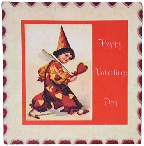 Price comparison product image 3dRose Print of Pierrot Clown Says Happy Valentines Day Mouse Pad (mp_200415_1)