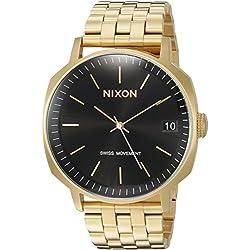 Nixon Men's 'Regent II SS' Swiss Quartz Stainless Steel Casual Watch, Color:Gold-Toned (Model: A9631604-00)