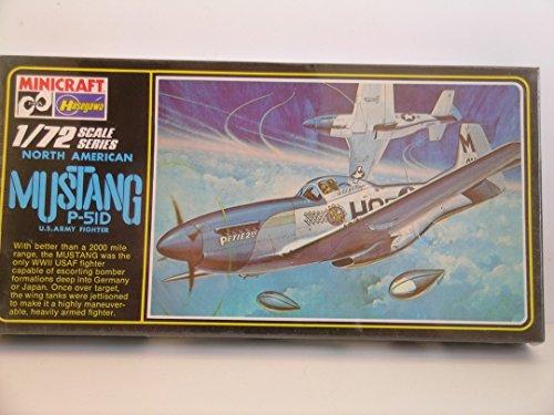 Minicraft/Hasegawa Models---U.S. Mustang P-51D Fighter Aircraft---Plastic Model Kit