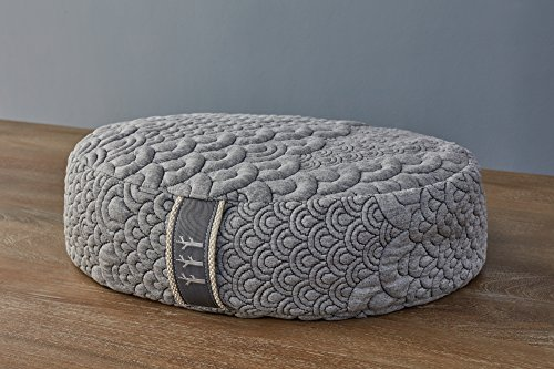 Brentwood Home Crystal Cove Meditation Pillow, Made in California, Oval