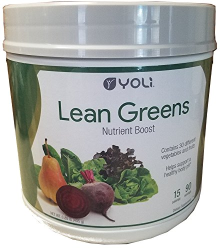 Yoli Lean Greens - Nutrient Boost - Contains 30 Different Vegetable and Fruits by Yoli