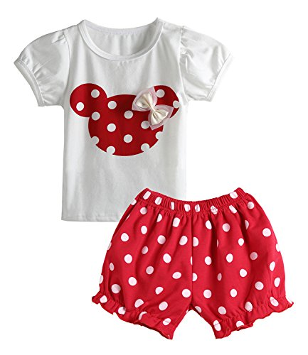 Avidqueen Cute Toddler Baby Girls Clothes Set Long Sleeve T-Shirt and Pants Kids 2pcs Outfits (Z-Red, 3T)