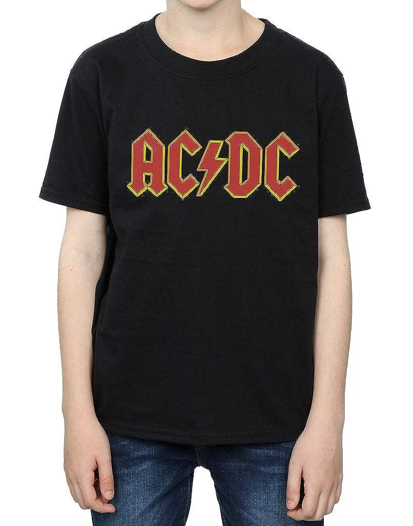 AC//DC ni/ños Red Logo Camiseta 7-8 Years Negro