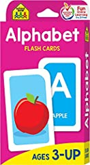 """Find our complete line of educational resources at Amazon.com/SchoolZonePublishing FEATURES & BENEFITS 56 Cards: 26 Uppercase, 26 Lowercase, 3 Index, 1 Parent Large 3.0"""" x 5.575"""" glossy cardstock For ages 3 and up Colorful and bright illu..."""