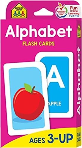 School Zone Alphabet Flash Cards Ages 3 PreK Letter Picture
