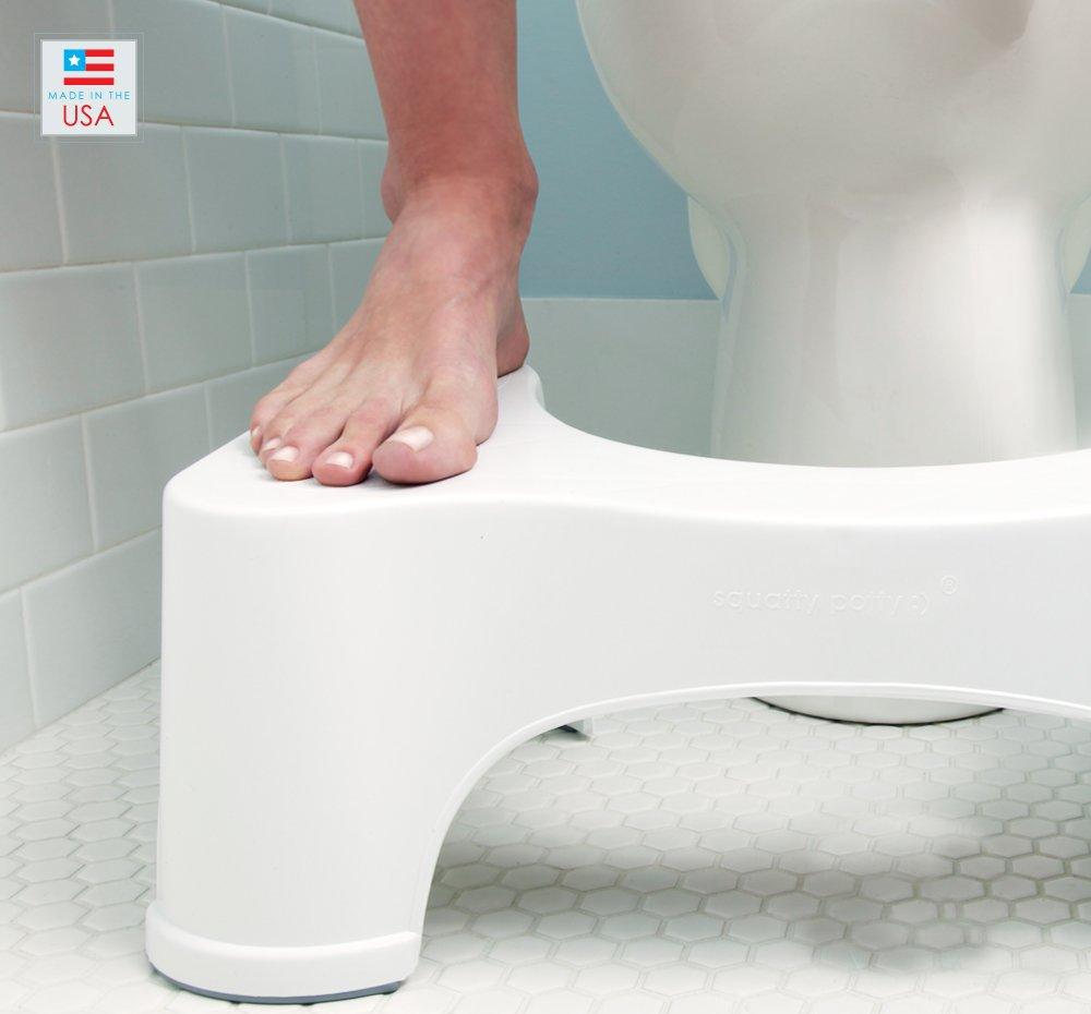 Amazon.com: Squatty Potty The Original Bathroom Toilet Stool, 9 inch  height, White: Health & Personal Care