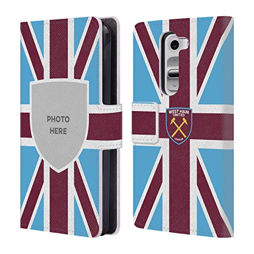 Custom Customized Personalized West Ham United FC Union Jack Flag 2018/19 Photos Leather Book Wallet Case Cover for LG G2 Mini / D618 Dual SIM (Lg Jack Cover G2 For Union Phone)