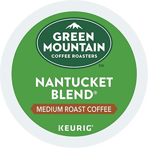 Green Mountain Coffee Roasters Nantucket Blend Keurig Single-Serve K-Cup Pods, Medium Roast Coffee, 72 Count (6 Boxes of 12 Pods) - Nantucket Green