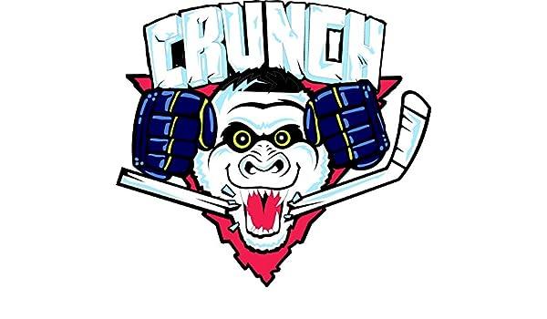 3/'/' or 5/'/' Syracuse Crunch Hockey Logo Car Bumper Sticker Decal