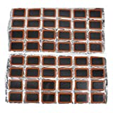Idealhere Bicycle Bike Cycle Tire Tyre Puncture Repair Round Rubber Patch 1 Sheet 48pcs