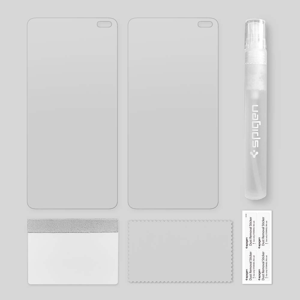 Anti-Huellas Dartilares Compatible con Fundas Anti-Ara/ñazos 2 Pack 606FL25994 spigen NeoFlex Sin Burbujas No Vidrio Templado Aplicaci/ón H/úmeda Protector Pantalla Samsung Galaxy s10 Plus