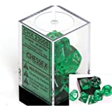 Polyhedral 7-Die Translucent Chessex Dice Set - Green