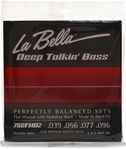 La Bella 760FHB2 Beatle Bass Flatwound Bass Strings - Light (Best Short Scale Bass Strings)