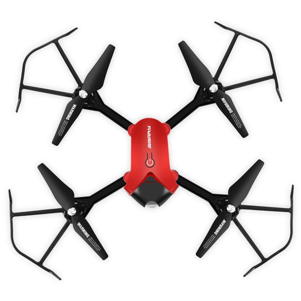 RC Quadcopter, Wifi Höhe Halten Quadcopter Fernbedienung Drohne Spielzeug mit 0.3MP HD Kamera(Rot)