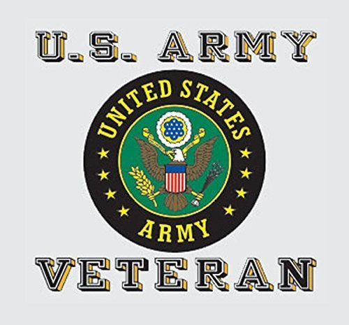 Window Veteran (United States Army Veteran Seal Car Decal US Military Gifts Army Products)