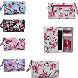 Cell phone wallet phone case Universal design fits: HTC One E9 Plus|HTC One M9+|HTC Desire 626G+