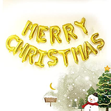 Amazon aurotrends gold 16 letters merry christmas foil aurotrends gold 16quot letters merry christmas foil balloons party decorative balloons spiritdancerdesigns Images