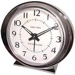 Westclox 11611 Baby Ben Classic Key Wound Silvertone Alarm Clock by Westclox