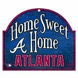 "MLB Atlanta Braves 10-by-11 Wood ""Home Sweet Home"" Sign"