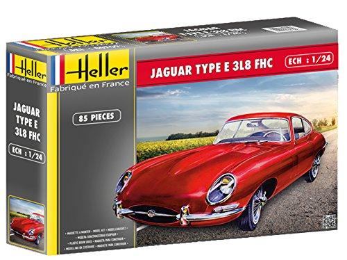 (1:24 Heller Jaguar Type E3l8 Fhc Model Kit.)