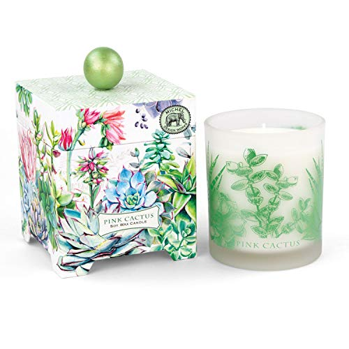 Michel Design Works 14 oz Soy Wax Candle, Pink Cactus