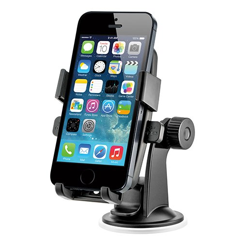 iOttie HLCRIO102 One Touch Windshield Dashboard Universal Car Mount Holder for iPhone 4S/5/5S/5C, Galaxy S4/S3/S2, HTC One - Retail Packaging - Black