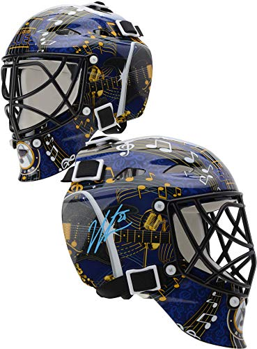 Louis Blues Mini Hockey Helmet - Jordan Binnington St. Louis Blues Autographed Mini Goalie Mask - Fanatics Authentic Certified - Autographed NHL Helmets and Masks