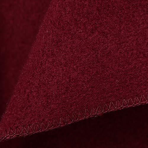 Rouge Hiver Cardigan Automne Outwear Manteau Femmes Unie Sharplace Veste Couleur 5zqO46w