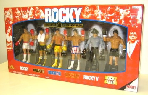 ROCKY 6-PACK EXCLUSIVE 30TH ANNIVERSARY COLLECTORS BOX SET Rocky Boxing Action Figures ()