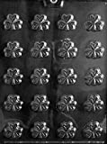 Cybrtrayd P001 Bite Size Shamrocks Chocolate Candy Mold with Exclusive Cybrtrayd Copyrighted Chocolate Molding Instructions plus Optional Candy Packaging Bundles