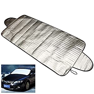 Funnytoday365 192 X 70Cm Car Windscreen Cover Heat Sun Shade Anti Snow Frost Ice Shield Dust Protector