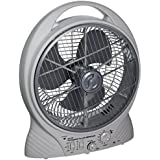 Gama Sonic Rechargeable 12-Inch Cooling Fan with AM/FM Radio and MP3 Input #GS-27R