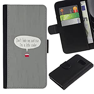 All Phone Most Case / Oferta Especial Cáscara Funda de cuero Monedero Cubierta de proteccion Caso / Wallet Case for Sony Xperia Z3 Compact // Cooler Pun Joke Funny Minimalist Grey