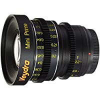Veydra V1-5LENSKITCASEM Mini Prime 5 Lens Kit with Manual Focus, Black